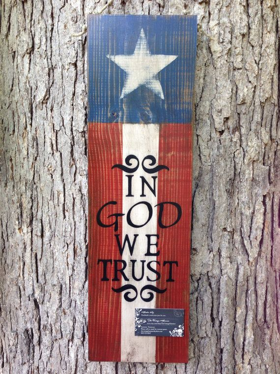 American Flag / In God We Trust sign Outdoor by TheVintageHammer