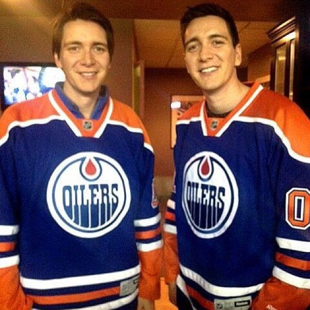 """""""Fred and George Weasley were at tonight's Oil game! #harrypotter"""