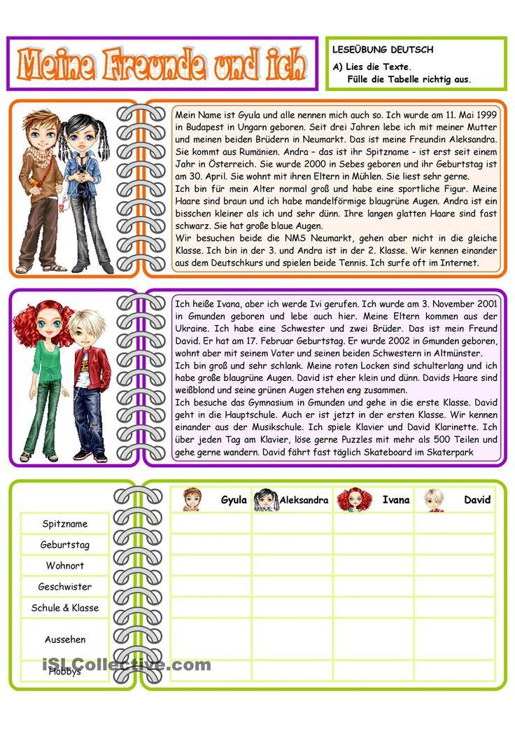 148 besten Daf-Leseübungen Bilder auf Pinterest   Sprachen ...