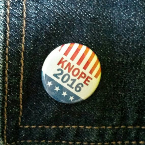 Knope 2016 button Parks and Rec  MyFatherWasAWolf.Etsy.com