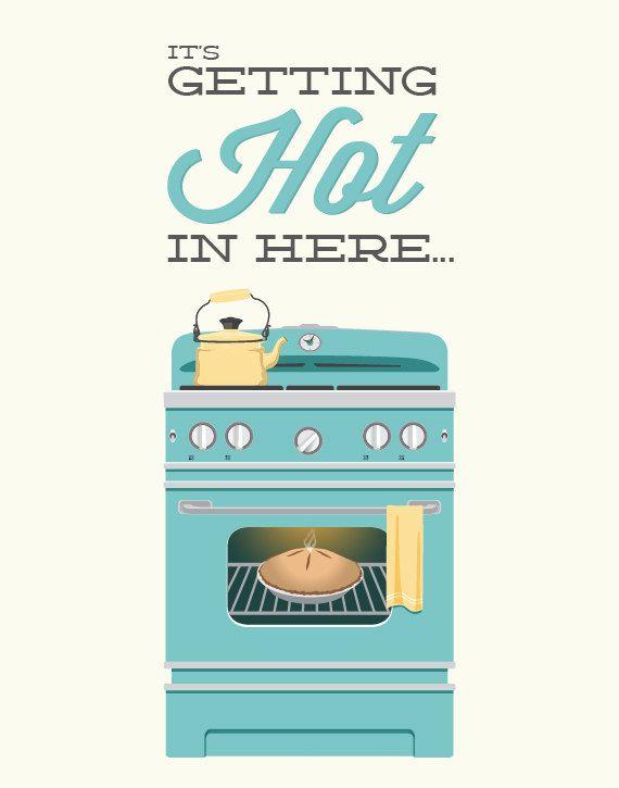 Oven Kitchen Print by noodlehug