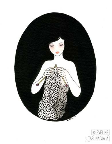 Knitted © Eveline Tarunadjaja 2011Illustration 01, Ilustraciones Ii, Tarunadjaja 2011, Knits Inspiration, Eveline Tarunadjaja, Inspiration Things, Girls Illustration, Dolls Inspiration