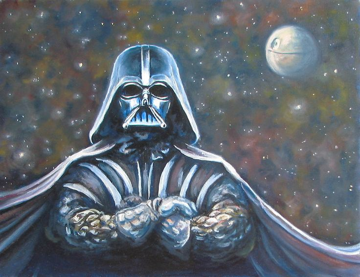 Картина масляными красками 40х50 «Дарт Вейдер» | Andrew Pugach