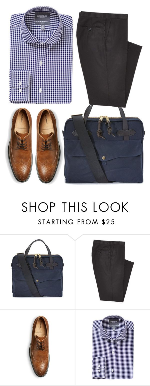 """Office wear # 3"" by jhaicaibarbia ❤ liked on Polyvore featuring Filson, Combatant Gentlemen, Bonobos, mens, men, men's wear, mens wear, male, mens clothing and mens fashion"