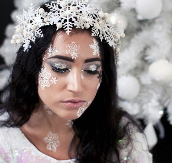 Snow Queen Winter Snowflake Crown  costume  by LingerieBomb