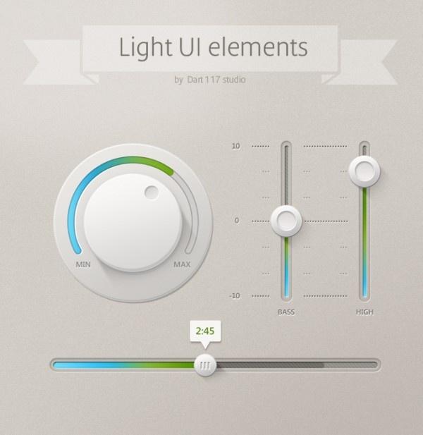 Light UI elements