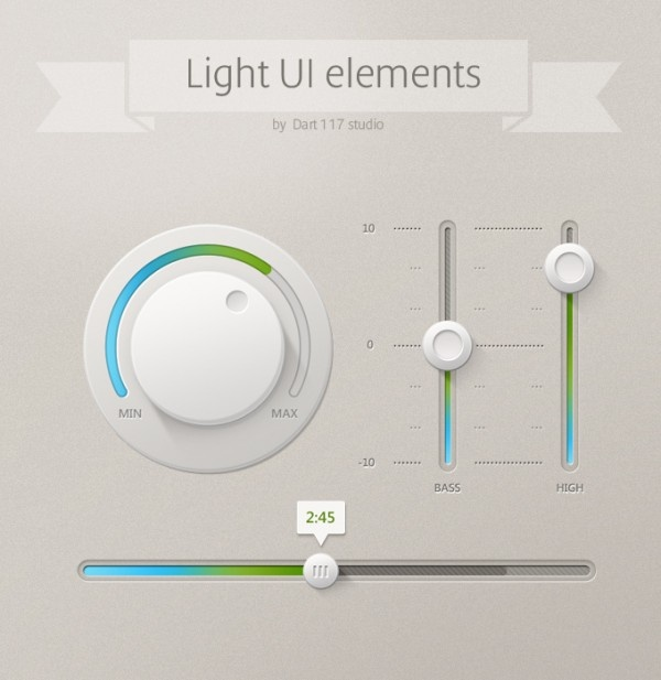 Light UI elements