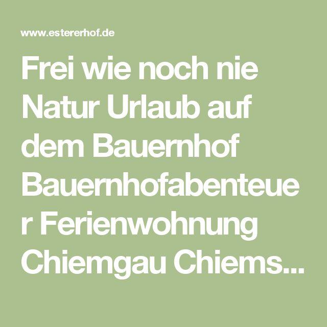 Frei wie noch nie Natur Urlaub auf dem Bauernhof Bauernhofabenteuer Ferienwohnung Chiemgau Chiemsee Bayern