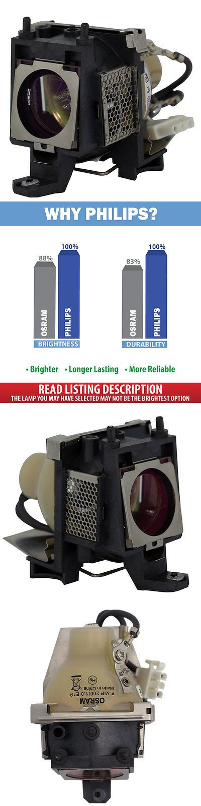 Projector Lamps and Components: Osram Lamp Housing For Benq N/A Projector Dlp Lcd Bulb BUY IT NOW ONLY: $69.0
