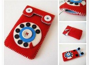 Keçe telefon kılıfı modelleri /Felt phone case