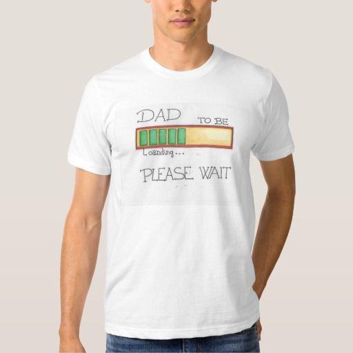 Camiseta Blanca Dad To be. Día del Padre. Hombre. Dibujo animado. Padre primerizo.  } Material: Camiseta de algodón. Tela muy suave y fresca.