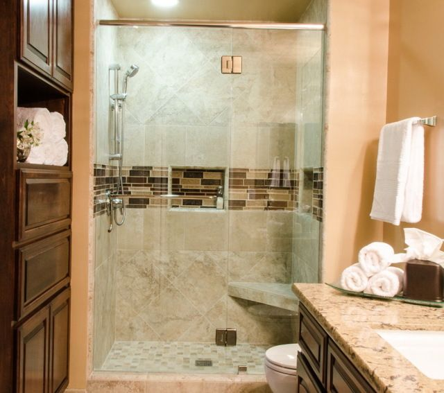 17 best glass walled showers images on pinterest - Very small bathroom ideas ...