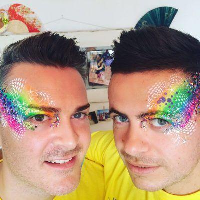 neon, face paint, rainbows, glitter, artist, professional, london, lgbt  Gay Pride, pride festival, rainbow