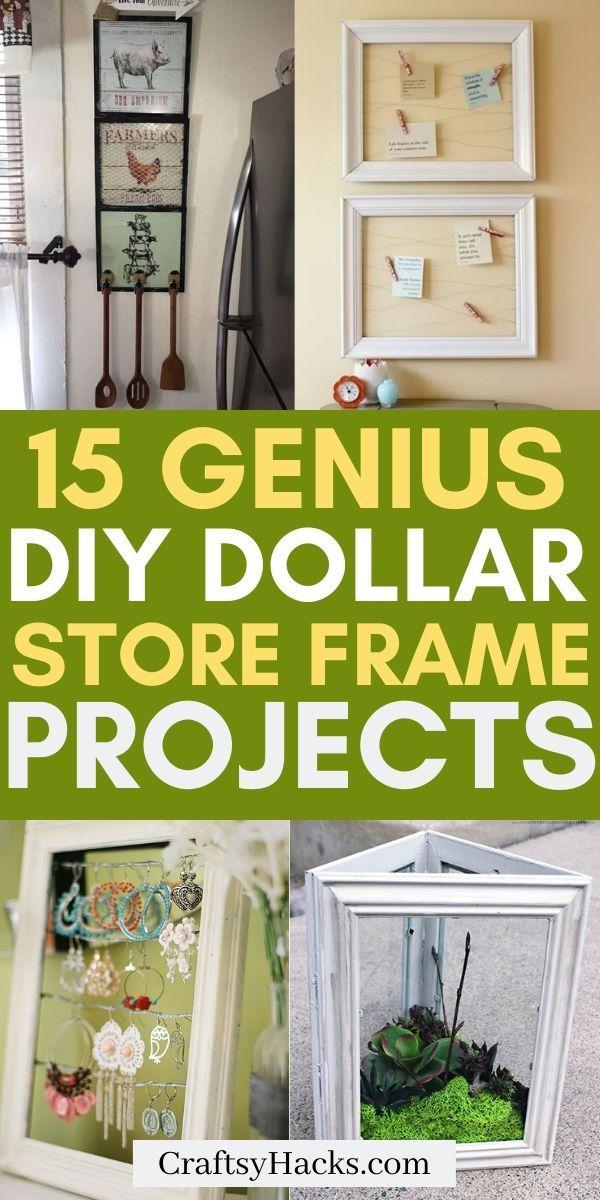 15 Diy Dollar Store Frame Craft Ideas Diy Dollar Store Crafts Dollar Store Diy Dollar Store Diy Projects
