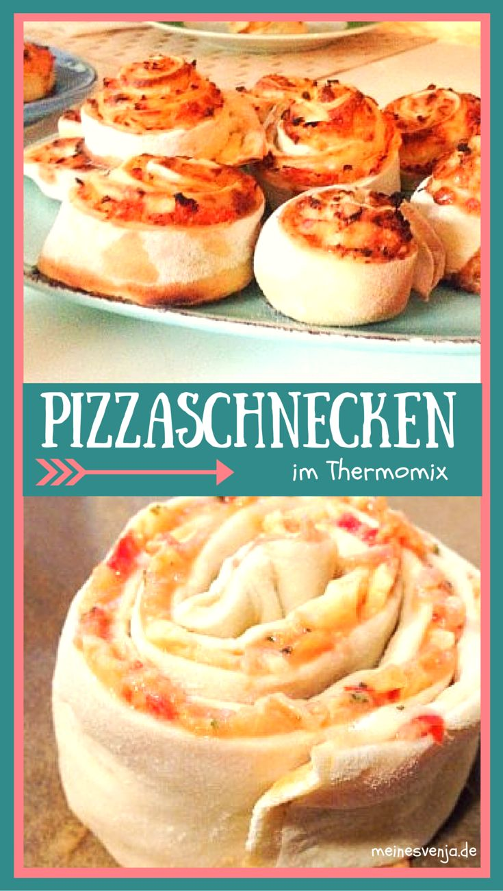 Einfach das Beste Pizzaschnecken Rezept im Thermomix *** Simply the Best Pizza Snail Recipe ever - without  Breadmachines