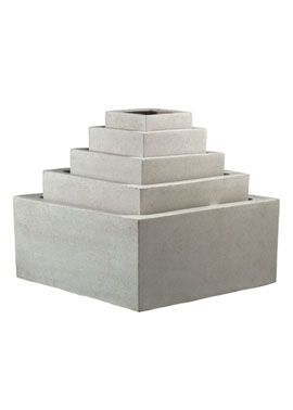 8IN WHITE POLY TERRAZZO LOW SQUARE PLANTER 71 best containers images on Pinterest  Garden gifts urns