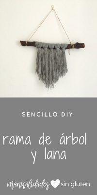 decorar con lana | www.manualidadessingluten.com  #diy #manualidades #decoraciondiy