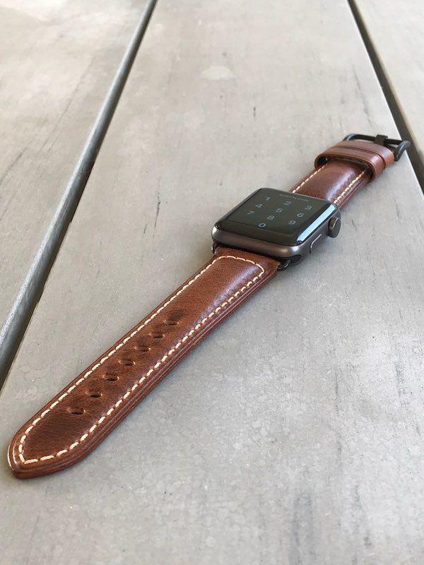 Apple Watch Leder Armband Echtleder Handgefertigt Apple Watch Series 1 2 3 4 Oil Waxed Leder Weinrot Armband Leder Leder Und Armband