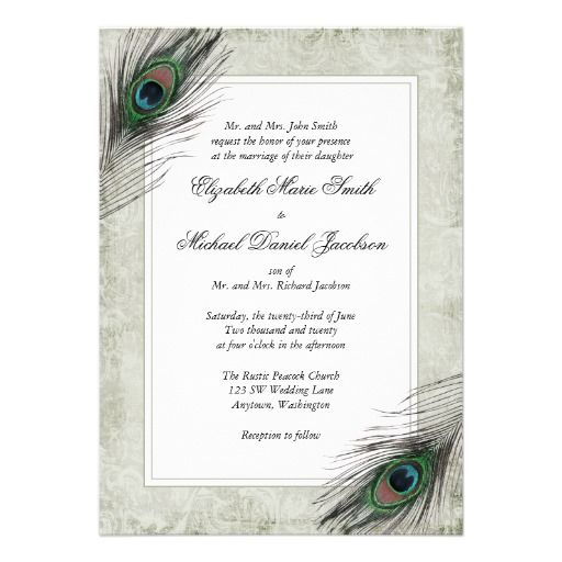 67 best images about peacock party on pinterest | letter p crafts, Wedding invitations