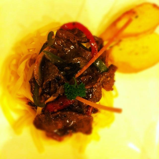 Beef Blackpepper Fetucinni