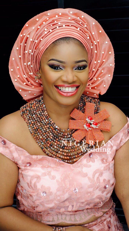 A Corsage For The Necklace or Gele ~African fashion, Ankara, kitenge, African women dresses, African prints, Braids, Nigerian wedding, Ghanaian fashion, African wedding ~DKK