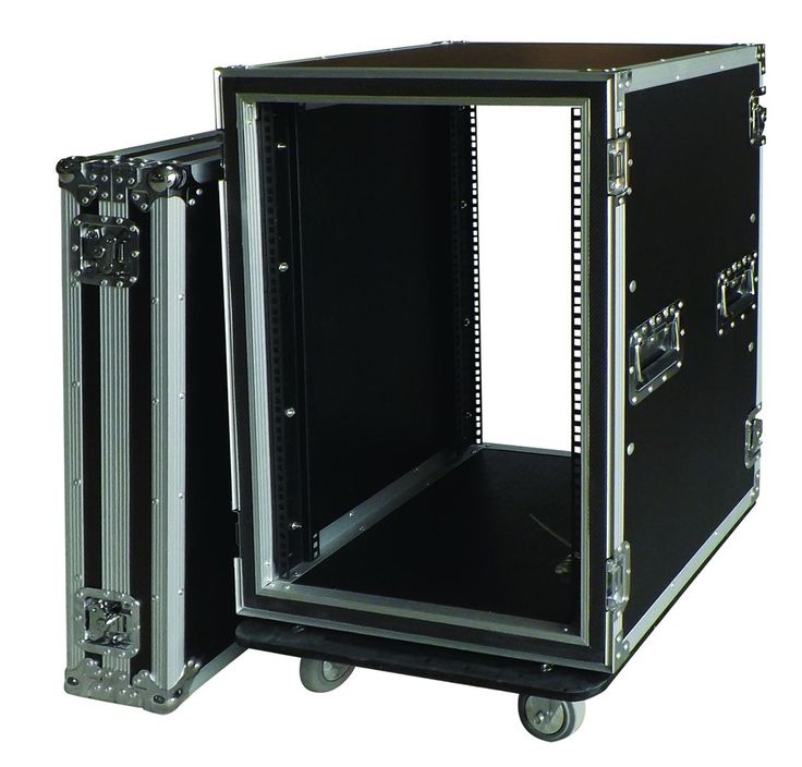 "19"" standard shock-proof rack  9mm plywood construction with laminated plastic covering  30mm*30mm aluminum section  heavy duty corners, heavy duty t brackets  medium butterfly latches,medium recessed handles  attachment rails (friont/back)  complete rackmounting component washers,nutsand screws  front/back covers."