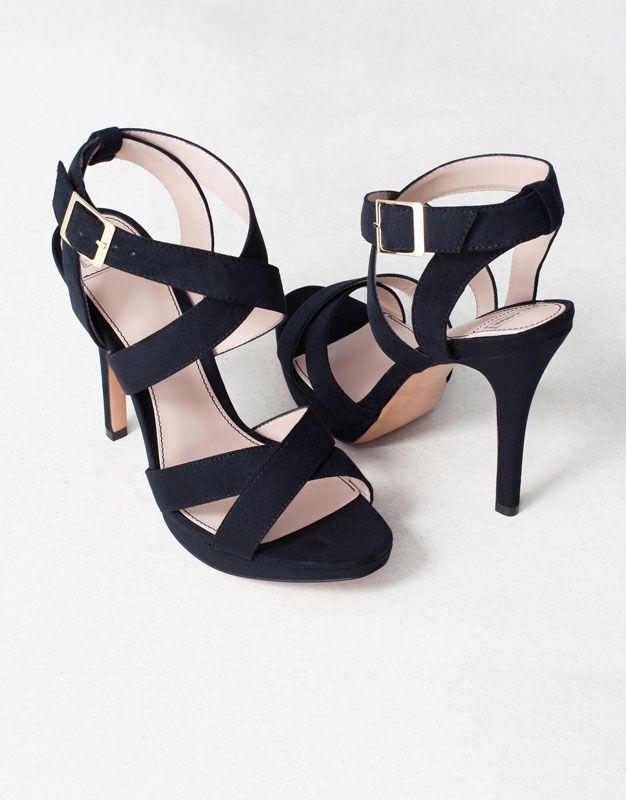 SANDALES CROISÉES TALON - Chaussures femme - FEMME - France