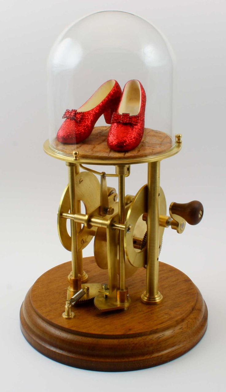 The Ruby Slippers automaton. Turn the crank and the slippers walk! love this! as a child me and my family went to the efteling where they have something like this too and as a child i was so fascinated by it that my parents hat to carry me away.