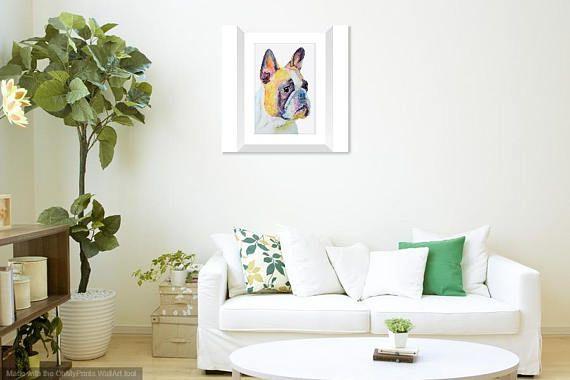 Make a statement french bulldog vibrant unique wall art print.