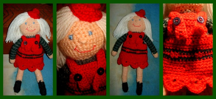 Christmas doll :) took the pattern from here and did a bit of editing myself