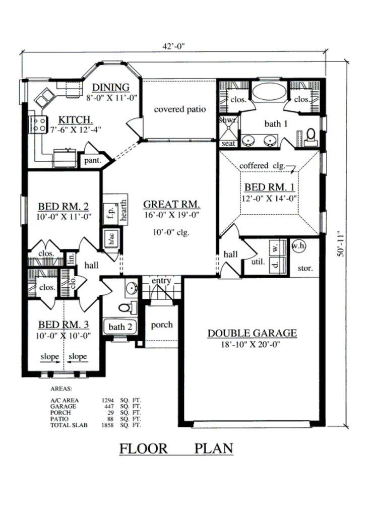 251 best Floor plans under 1600sq ft images on Pinterest