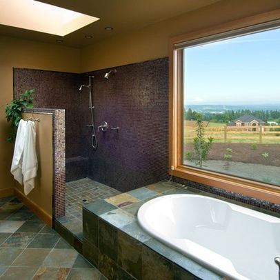 doorless shower design ideas, pictures, remodel and decor