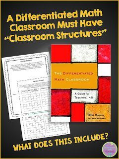 """What does """"classroom structure"""" mean in a differentiated math classroom?"""