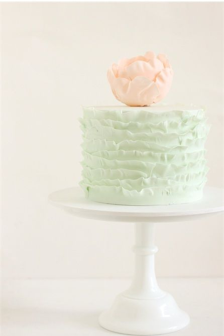 pink and green + ruffles - would be perfect for a girl baby shower in the spring.  by hello naomi