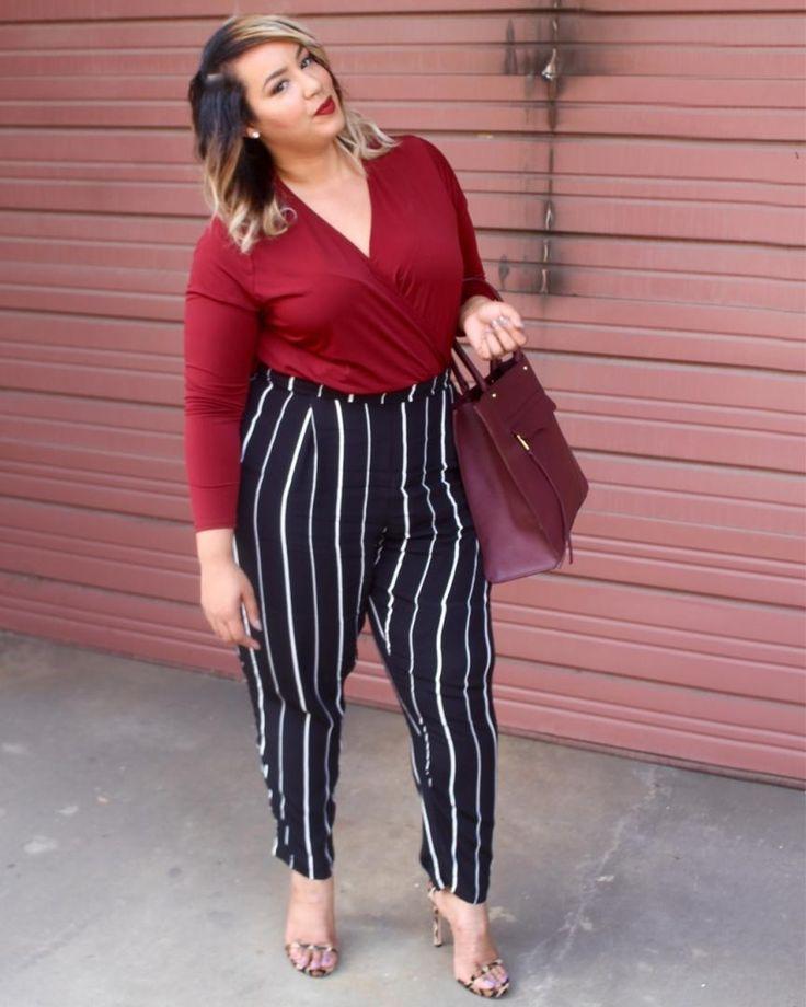 Os tons avermelhados são tendência nessa temporada e eles super combinam com o nosso queridinho p&b. Separe essas cores no seu armá… | Tamanhos grandes | Pinterest | Fashion, Plus Size Fashion and Plus size