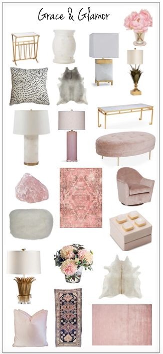 Pink and gold and a good bit of glam
