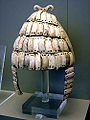 Casque en défenses de sanglier retrouvé dans une tombe de Mycènes, HR III.