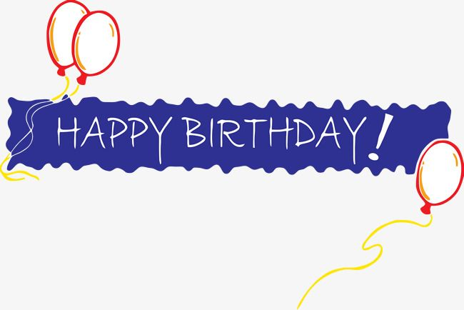 Happy Birthday Banner Png And Clipart Happy Birthday Words Personalized Birthday Banners Happy Birthday Banners