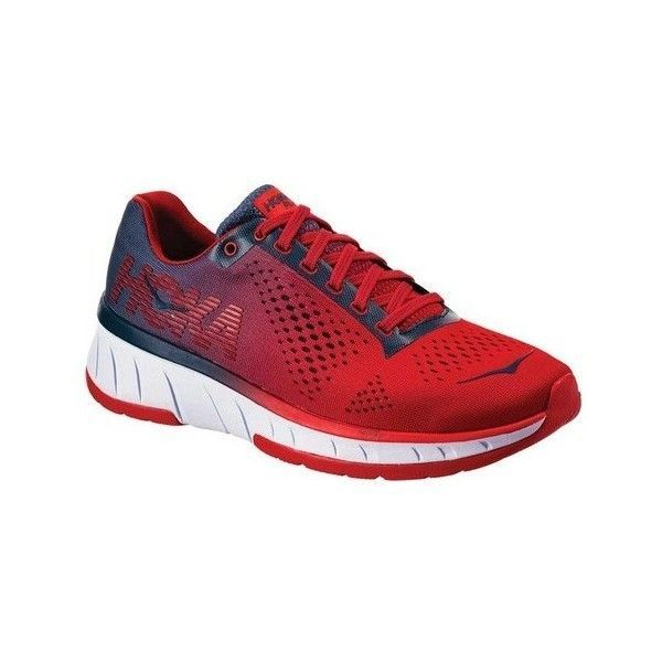 Women's Hoka One One Cavu Running Shoe ($110) ❤ liked on Polyvore featuring shoes, athletic shoes, athletic, trainers, mesh running shoes, training shoes, shock absorbing running shoes, lace up shoes and cushioned running shoes #runningshoes #runningtraining