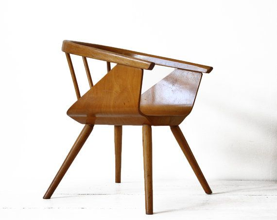 Vintage EAMES style CHILD's wooden seat 1950