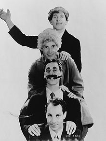 The Marx Brothers (from top, Chico, Harpo, Groucho, and Zeppo Marx) Great comedians and musicians. Love their movies!