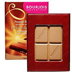 Bourjois Bronzer - a very affordable matte bronzer that looks like a block of chocolate.  Sometimes it's hard to find a purely matte bronzing powder but this one does the trick.