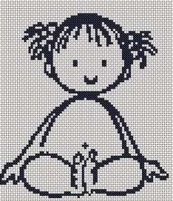Free cross stitch chart for nursery