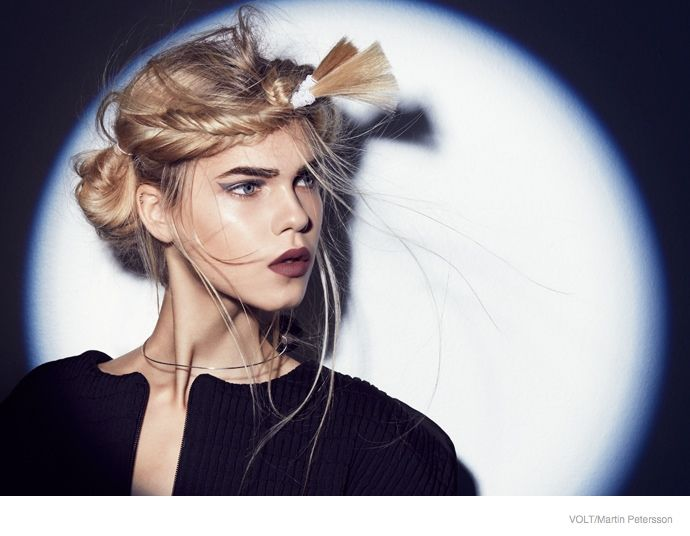 Line Brems Rocks Braided Hairstyles for Volt by Martin Petersson