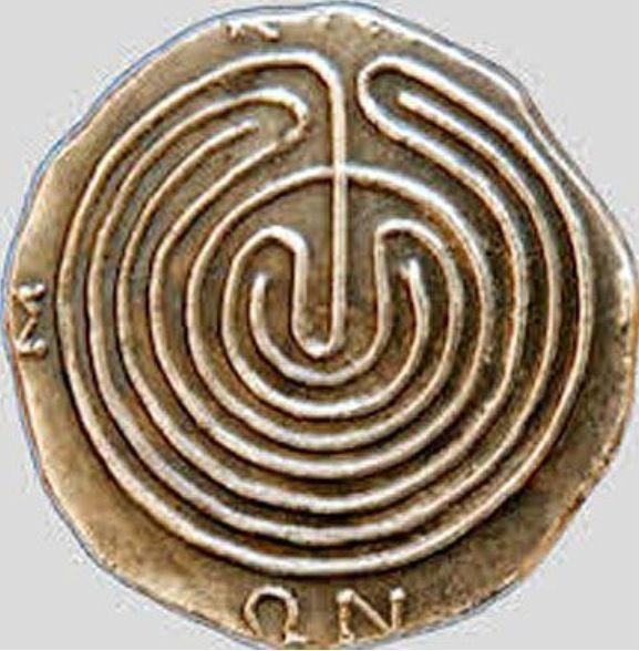 LABYRINTH: ANCIENT CRETAN COIN.