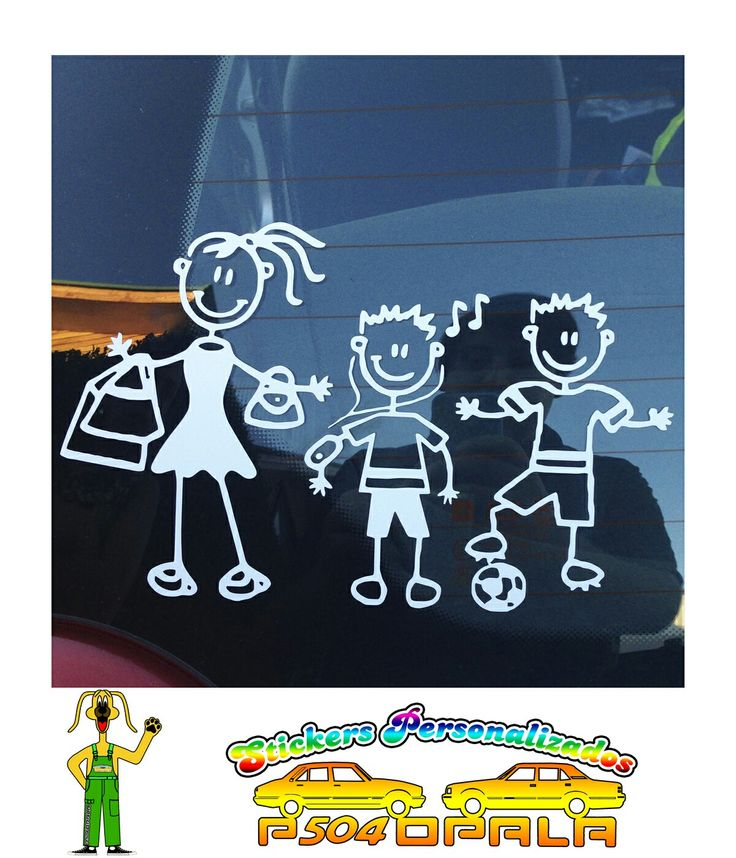 "Sticker ""Pack Familia"" de 03 integrantes"