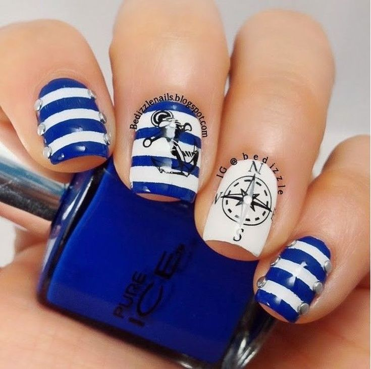 37 Awesome Nail Designs Ideas With Anchor Patterns For Summer Cool 37 Awesome Nail Designs Ideas With Anchor Patterns For Summer. More at <a href=