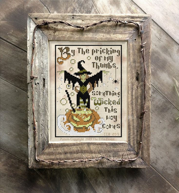 Halloween Witch Cross Stitch Pattern Needlepoint Download or Paper Embroidery Chart by TheElfinForest on Etsy https://www.etsy.com/listing/246922943/halloween-witch-cross-stitch-pattern