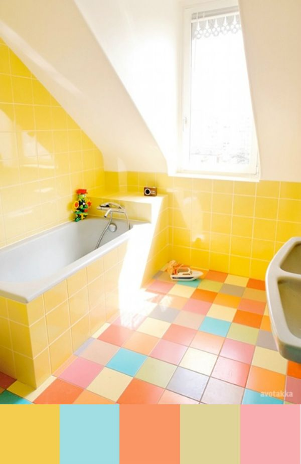 Daydream-In-Color-Color-Palette-Rainbow-Tile-Yellow-Bathroom