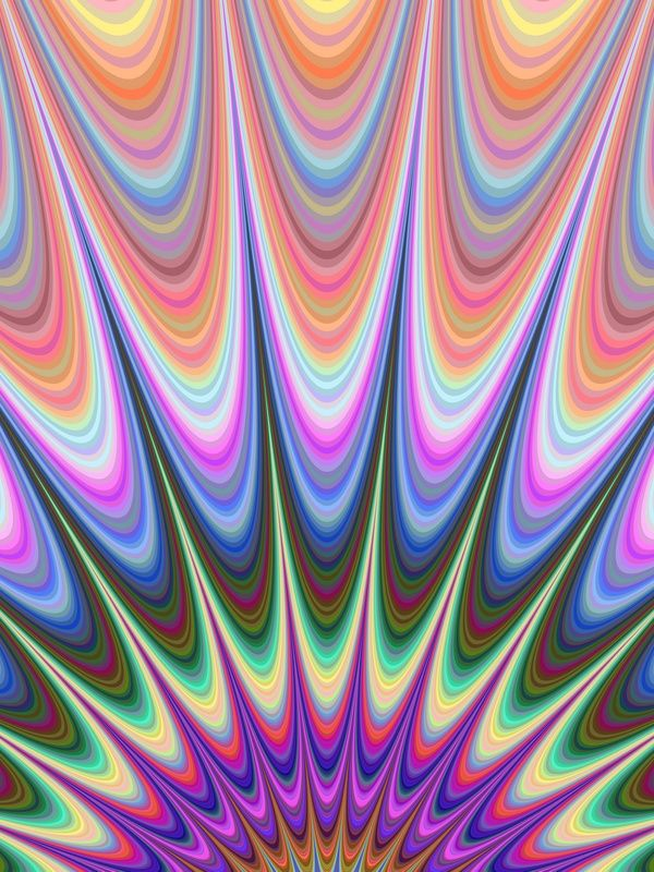 Abstract colorful geometric fractal sunrise design background